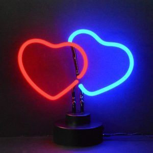 Neon deco - Double Coeur - Art neon design