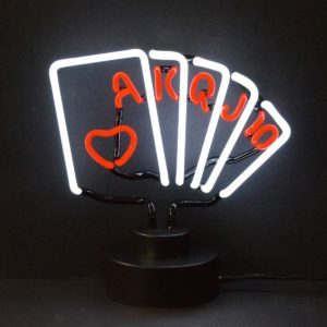 Neon deco Poker - Art neon design