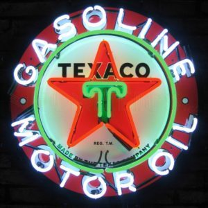 Enseignes neon deco - Texaco US - Art neon design