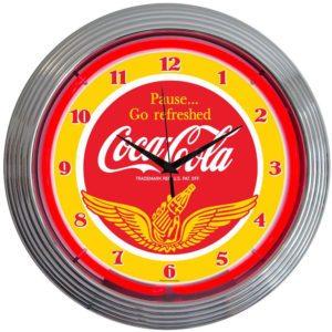 Horloge lumineuse murale neon deco vintage Coca Cola - Art neon design