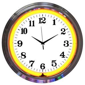 Horloge lumineuse murale neon deco vintage - Art neon design