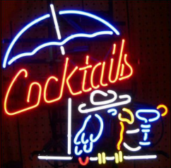Enseignes neon deco - Cocktail - Art neon design