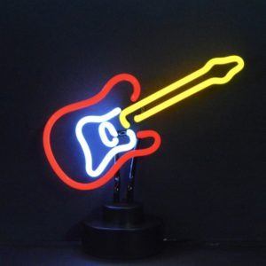 Neon forme de Guitare