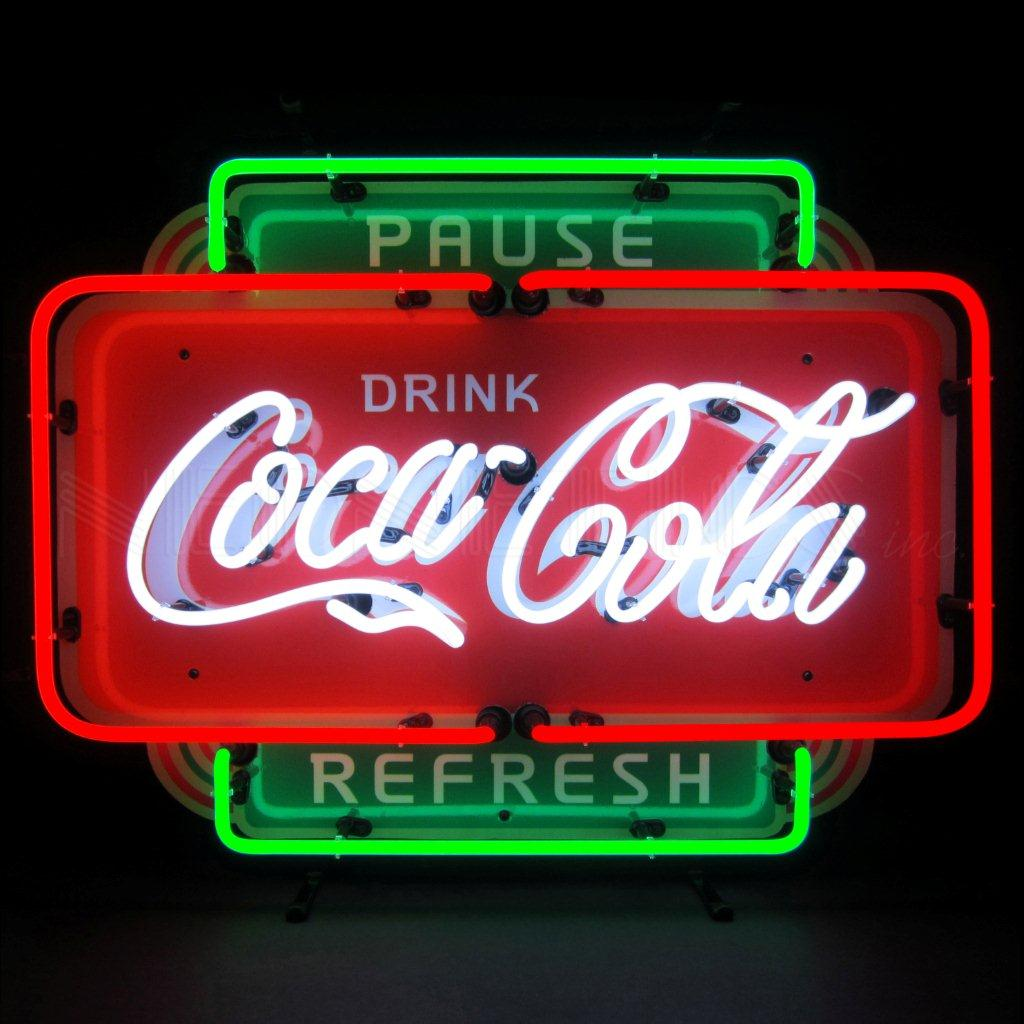 Enseignes lumineuse coca cola sur mesure