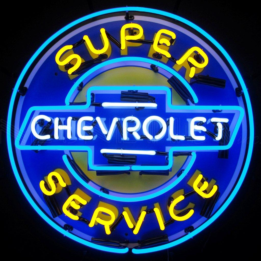 Enseignes bleue Chevrolet US