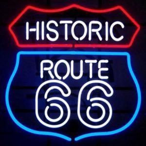 Néon Route 66 US murale