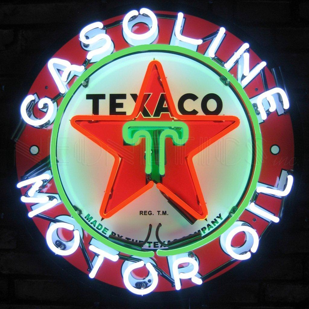 Enseignes lumineuse Texaco US