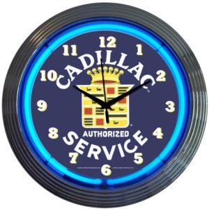 Horloge lumineuse murale néon Cadillac