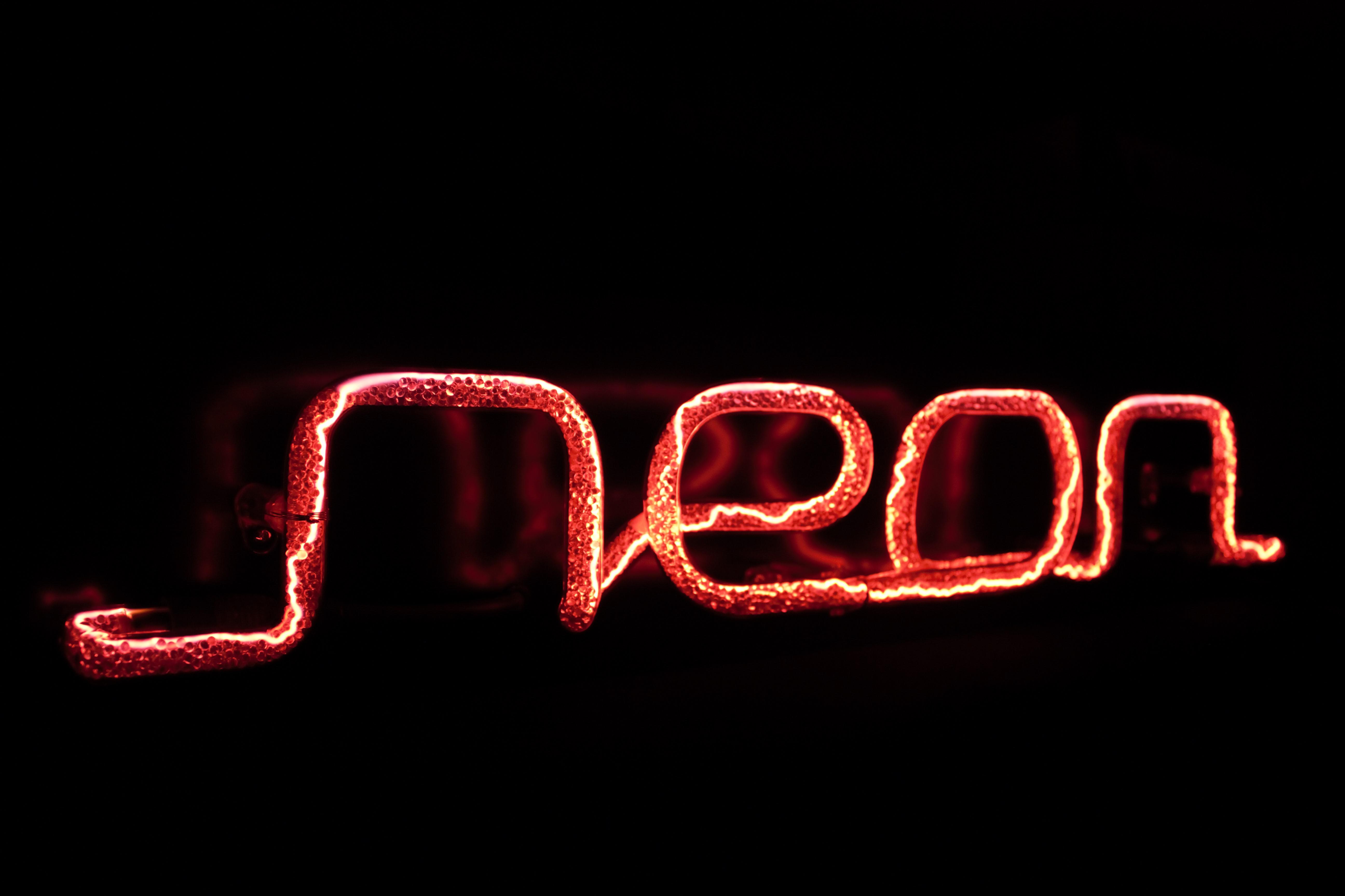 Neon deco lettrage